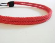 Double Strand Red Rope Headband