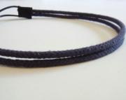 Double Strand Navy Nautical Rope Headband