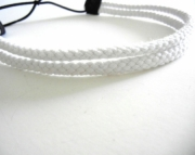 Double Strand White Rope Headband