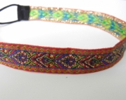 Red, Gold, and Green Tapestry Headband