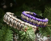 Survival Bracelet Paracord set Army couple - free shipping