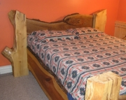 Log Art Head Board - Queen Size