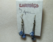 Blue and Bronze Earrings