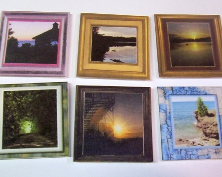 6 Scenery Magnetic Bookmarks
