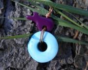 Zuni Spirit Bear/ Turquoise Pendant