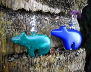 Gemstone Bear Pendants