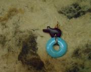 Arizona Turquoise Pendant & Jet baby bear