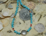 New Mexico Heishi & Turquoise Aztec Necklace