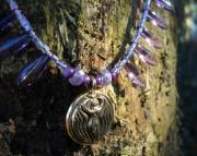 Goddess Pendant/Egyptian/Purple