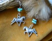 Turquoise Tennessee Walker Earrings