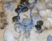 Turtle with Blue Wampum Necklace