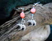 Pewter Bear Earrings