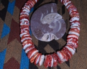 Red Spiney Oystershell Necklace