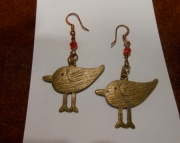 Sparrows/brass/ Spice Red crystals