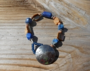 Electric Blue Lapis Lazulli Bracelet