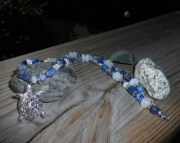 Lapis Lazulli Silver Turtle Necklace (reserved)