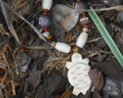Bone Turtle & Hairpipe Necklace