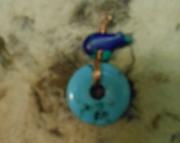 Zuni Bear/Bright Turquoise Pendant