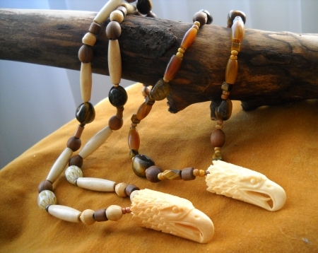 Bone Eagle Necklace