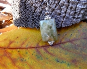 Prehnite Faceted Pendant