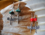 Dragonfly and Gemstone Earrings