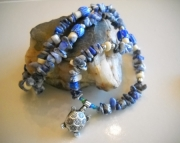 Sodalite Turtle Necklace