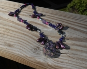 Purple Druzy Quarz Necklace