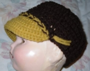 Infant Brown and Gold Ball Cap