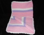Pink Striped Baby Afghan