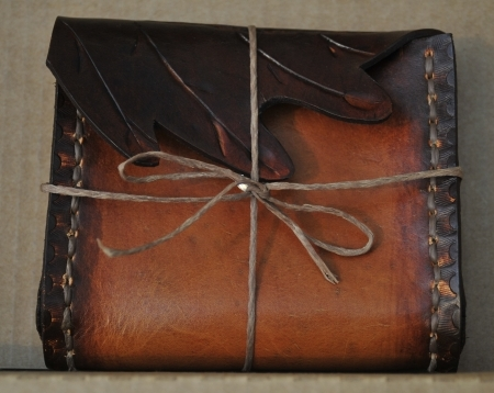 Oak Leaf Leather Belt Bag
