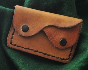 Two Pocket Leather Coin Purse