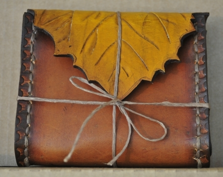 Aspen Leaf Leather Belt Bag