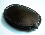 Leather Coin Purse Pocket Changer