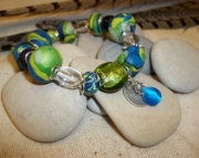 Clay and Glass with Dangle Bracelet