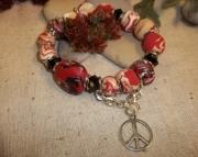 Polyclay Bracelet Funky Fun Peace