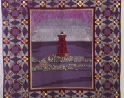 A Cloudy Day in Portsmouth Harbor quilted wall hanging