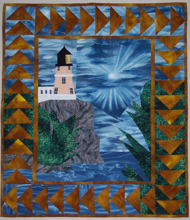 Quilting Lighthouse Patterns : Pattern: Split Rock Lighthouse Wall Hanging Handmade Michigan