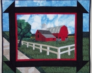 Pattern:  Red Barn Wall Hanging