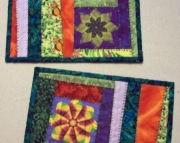 Mug Rugs Kaleidoscope Flowers