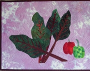 Swiss Chard wall hanging