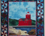 Pattern:  Big Red Lighthouse Wall Hanging