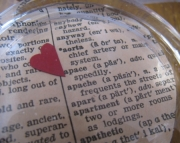 Valentine Glass Paperweight