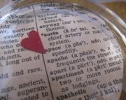 Valentine Glass Paperweight