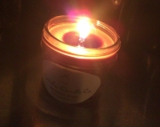 4 ounce soy candle in Jelly Jar