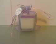 2 Ounce Soy Decor Candle in Square Glass Jar