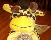 Giraffe diaper cake