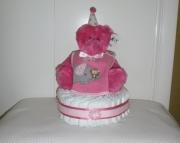 1-Tier Baby Diaper Cake - Pink