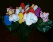 Baby Sock/Washcloth flower arrangement