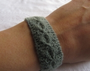 Knitted Bracelet-sage