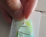 Beach & Stained Glass Pendant 1